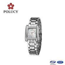 El mejor Reloj de cuarzo de lujo del cristal del zafiro del acero inoxidable de Qualiry 316L mira a muchachas