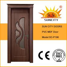 Popular Turkish Design PVC MDF Door with Crown (SC-P196)