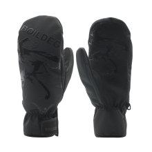 Luvas de couro de cabra Design de bolso Luvas de esqui de esportes de inverno