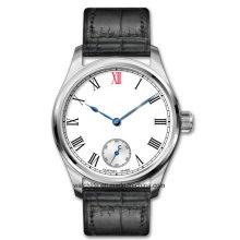 High End Automatische leuchtende Lederband Herren Armbanduhr
