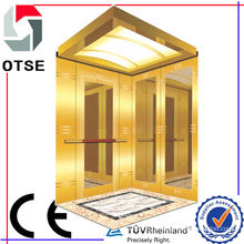 450kg 5 persons Titanium Stainless Steel Etching High Quality Low Noise Passenger Elevator Lift