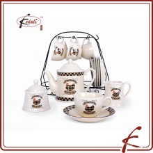 elegant design ceramic tea pot set