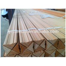Moldura exterior / moldura de madera triangular / moldura de techo