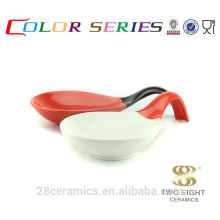 Wholesale ceramic bulk items, cheap houseware, spoon shape enamel bowl