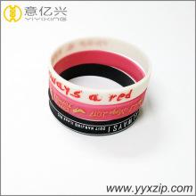 Mode geprägt Armband Förderung Silikon Armband