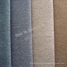 Tecido para sofá de veludo catiônico super macio com forro em T / C