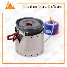 Defensor de titanio a prueba de viento ligero madera estufa de titanio viento utilizado