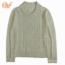Mens Nepyarn Cream Cable Knit Jumper Sweaters