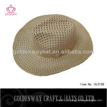 Gros chapeaux de cow-boy en paille pour hommes pour l'été