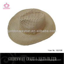wholesale mens fashion straw cowboy hats for summer