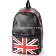 Promotional Black Color PU Printed Flag Backpacks