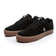 Zapatos casuales para hombres con estampado de cuadros oscuros