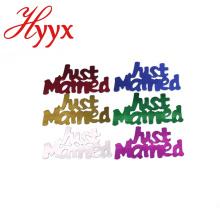 HYYX 350 unids / pack varios colores dispersiones de fiesta confeti acaba de casarse con signo de la letra decoración de la boda