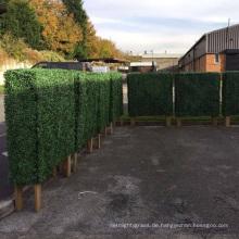 China Lieferant maßgeschneiderte Größe künstliche Box Hecke mit Pflanzer