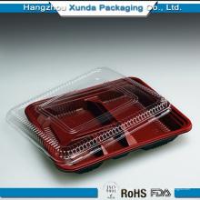 4 отделения Одноразовые Bento Box с крышкой