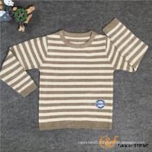 Slip Color Stripe Preppy Style Long Sleeves Basic Style Sweater for Children
