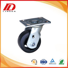 Heavy duty industrial casters with rubber wheels