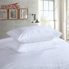 Literie d'hôtel directement usine / Draps de lit de rayure de 3cm pour des hôtels et des hôpitaux