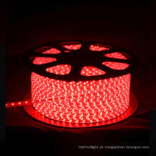 Fita LED 3528 220V VERMELHO 60LEDS POR METRO