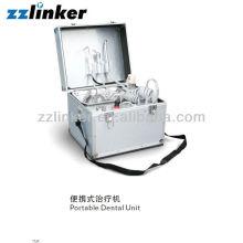 LK-A33 Tipo de bagagem Built-in Air Compressor Mobile Portable Dental Unit