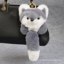 Kleiner Fuchs geformt / verschiedene Farben / Rex Rabbit Fur Keychain