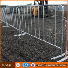 Barrière tubulaire en acier galvanisée à chaud de sécurité routière
