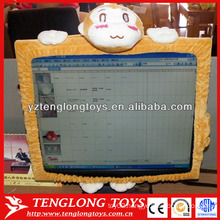 "Hot sales wholesale lovely soft 17""-23""cartoon plush computer screen covers"