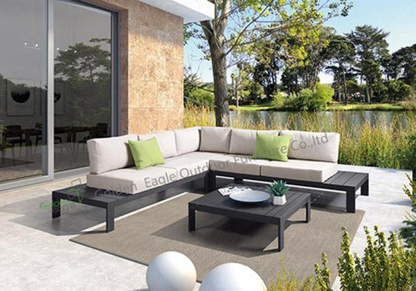 aluminium garden modular seating set