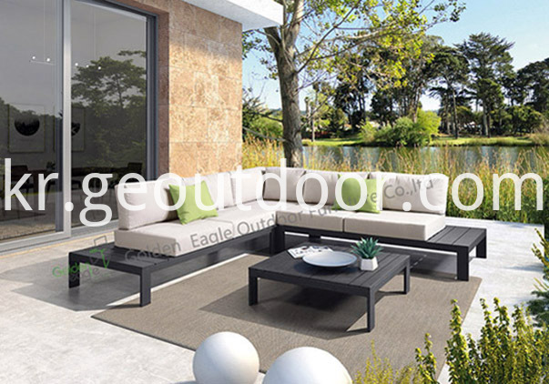 aluminium garden modular seating set