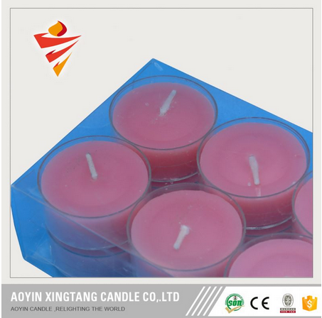 Aroma scented color tea light candle
