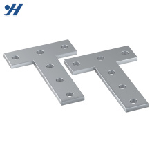 HDG 5mm Four Holes T Shaped Steel Bracket