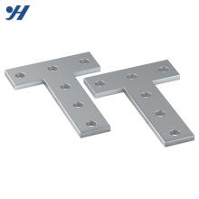 Suporte de aço em forma de t de HDG 5 mm quatro furos