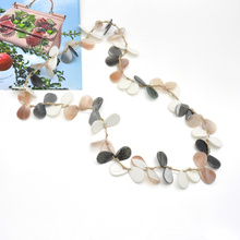 2021 summer spring season series long cord linked acrylic necklace with charms