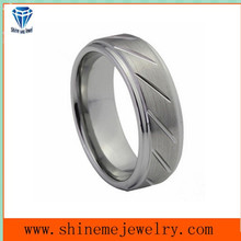 Tungsten Gold Tide Fashion Personality DIY Couples Tungsten Jewelry Ring
