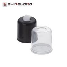 P124 High Quality Diameter 140mm Acrylic Round Facial Tissue Dispenser For Car
