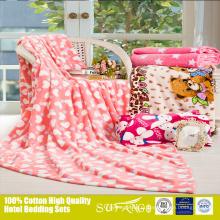 Cobertor de bebê de lã macia antiestática doce bonito com padrão de desenho animado