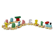 Brinquedo de madeira vendendo quente do trem com número