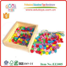 Colorful Kids Craft Toys Wooden Beads Lacing Toys