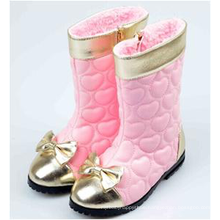 winters kids girl pink knee high long boots shoes wholesale