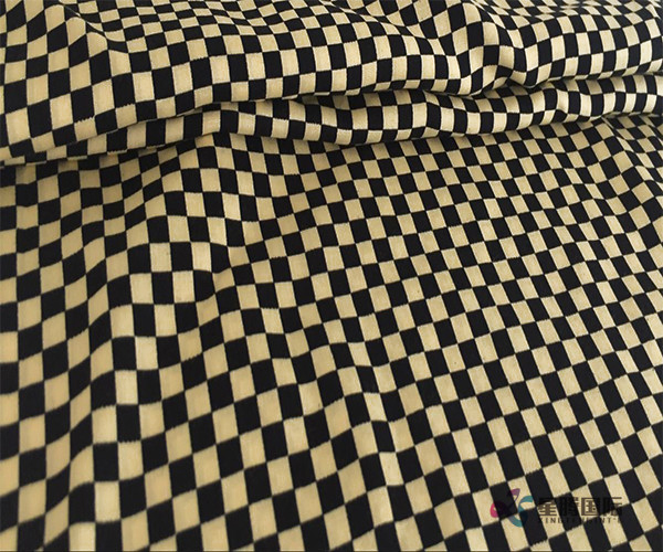 Fashionable Checkered Pattern Design 100% Rayon Woven Fabric (4)