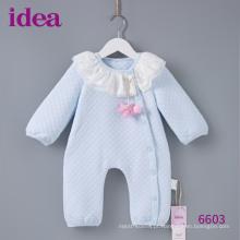 6603 100% algodão Scuba tecido bebê Romper para meninas