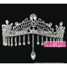 Decoração da coroa real moda européia noivas de jóias tiara jóia