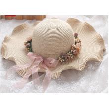 Промоциональное лето вдоль солнечной соломенной шляпы, наружная шляпа от солнца