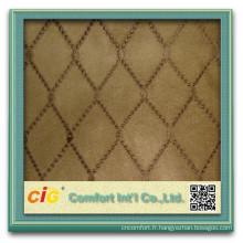 Tissu décoratif Suede canapé polyester avec Embrodier