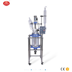 10L Jacketed Chemical Glass Polymerization Reactor
