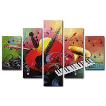 Dekorative Wand Kunst Abstract Violine Ölgemälde auf Leinwand (XD5-071)