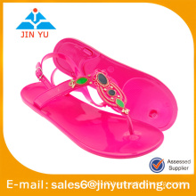 beautiful crystal jelly shoes girl sandals