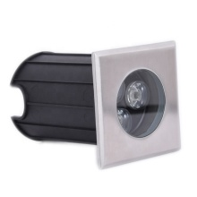 Outdoor lighting recessed 3W stainless steel square