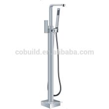 Boden freistehende Messing Badewanne Mischbatterie, Seite montiert Badewanne Wasserhahn
