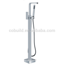 Faucet de banheira de banheira de latão, com piso livre, torneira de banheira montada lateralmente